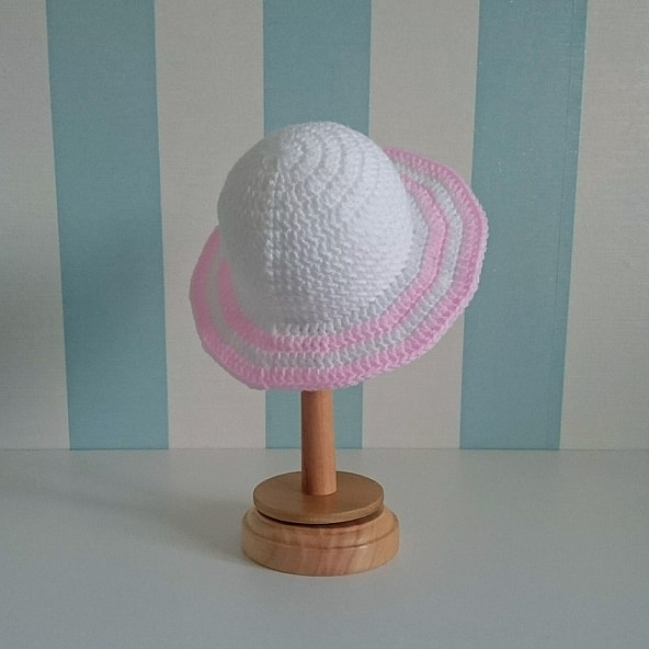 Newborn Summer Hat Free Crochet Pattern The Crochet Blog